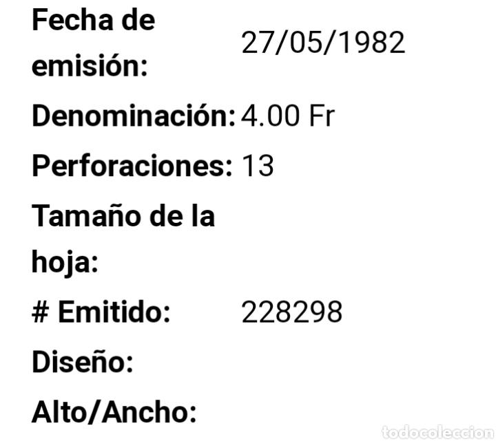 Sellos: Hoja 4 sellos Mónaco 1982 - Foto 2 - 194738125