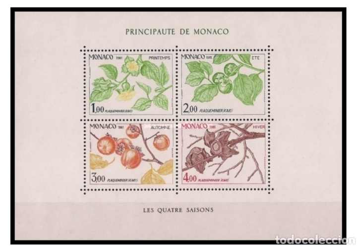 HOJA MÓNACO 1982 (Sellos - Material Filatélico - Hojas)