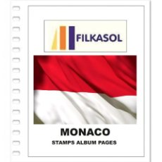 Sellos: MONACO STAMPS ALBUM PAGES 1885-2018 - PDF FILE PRINTABLE. Lote 228217410