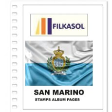 Sellos: SAN MARINO STAMPS ALBUM PAGES 1877-2018 - PDF FILE PRINTABLE. Lote 195059947