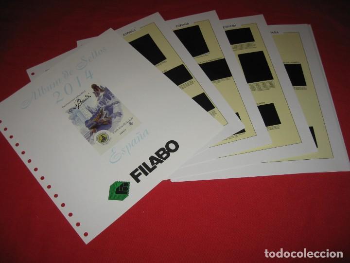 SUPLEMENTO PARA SELLOS DE ESPAÑA DE FILABO 2014, CON ESTUCHES NEGROS (Sellos - Material Filatélico - Hojas)