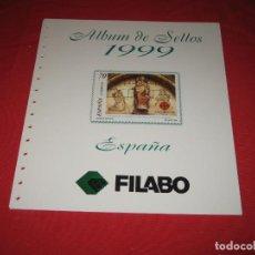Sellos: SUPLEMENTO PARA SELLOS DE ESPAÑA 1999, DE FILABO SIN ESTUCHES. Lote 196383015
