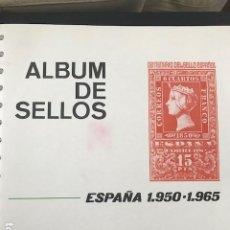 Selos: HOJAS FILABO ESPAÑA AÑO 1950 A 1961 CON MAS DE 100 SELLOS INCLUIDOS. Lote 197550025