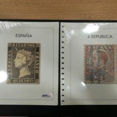 Selos: JUEGO HOJAS NUEVAS SIN ESTUCHES DE PRIMER CENTENARIO Y II REPÚBLICA.. Lote 198255502