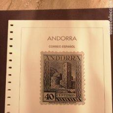 Selos: BLOQUE DE HOJAS ANDORRA ESPAÑOLA 1875 A 1998 SIN ESTUCHES. Lote 198255593