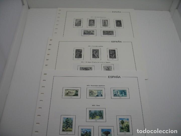 SUPLEMENTOS DE SELLOS DE ESPAÑA EDIFIL 1971,72, 73 SIN ESTUCHES (Sellos - Material Filatélico - Hojas)