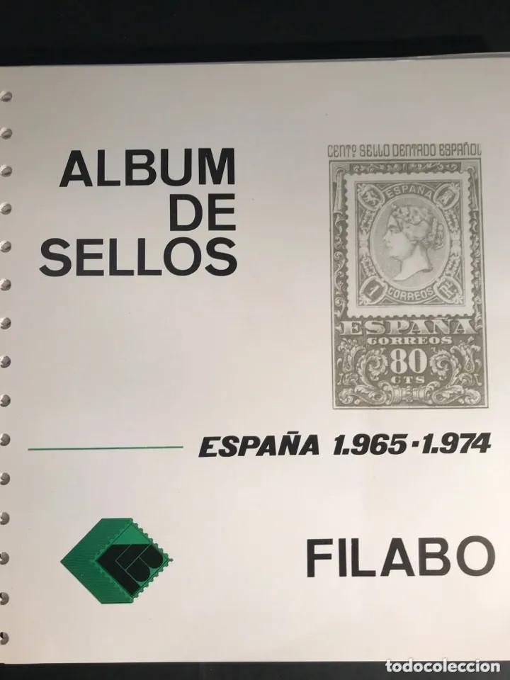HOJAS FILABO AÑOS 1965 A 1974 UN TOTAL DE 63 HOJAS SIN HF60 HF70 (Sellos - Material Filatélico - Hojas)