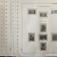 Francobolli: HOJAS FILABO SUPLEMENTO AÑO 1973 MONTADAS CON FILOESTUCHES TRANSPARENTES HF70. Lote 198749371