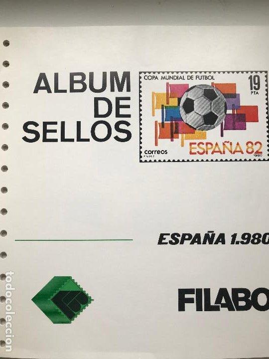Sellos: Hojas Filabo España año 1980 montadas en transparente. HF80 - Foto 3 - 199238318