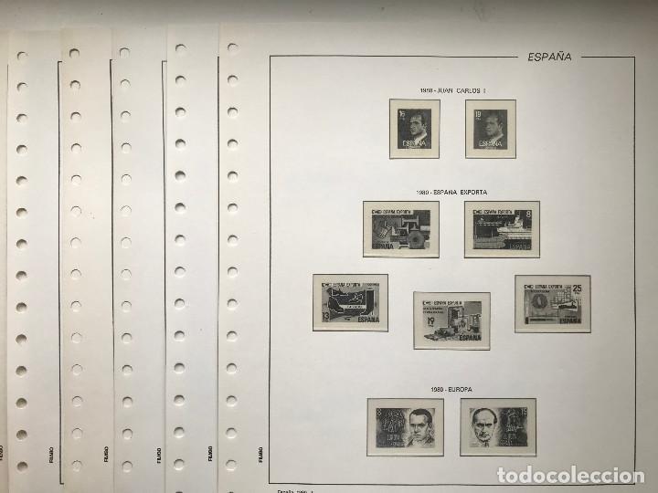 HOJAS FILABO ESPAÑA AÑO 1980 MONTADAS EN TRANSPARENTE. HF80 (Sellos - Material Filatélico - Hojas)