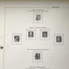 Sellos: HOJAS FILABO ESPAÑA AÑO 1950 A 1953.SIN MONTAR COLOR BLANCO CON DIBUJO HF50. Lote 199238693