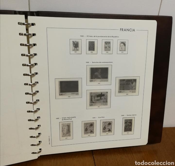 Sellos: ÁLBUM CREAFIL CON HOJAS EDIFIL, FRANCIA 1980/92 - Foto 4 - 201250882