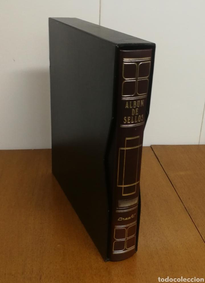 ÁLBUM CREAFIL CON HOJAS EDIFIL, FRANCIA 1980/92 (Sellos - Material Filatélico - Hojas)