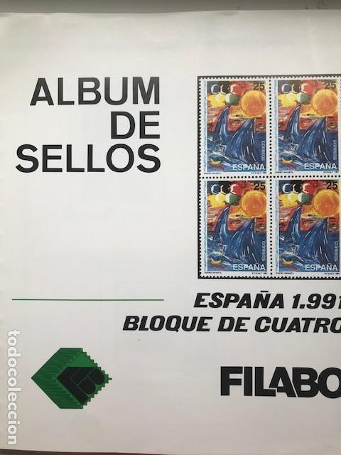 Sellos: Hojas Filabo año 1991 en bloque de 4 Suplemento 16 hojas Filabo España 1991 LEER HFB90 - Foto 16 - 201549982
