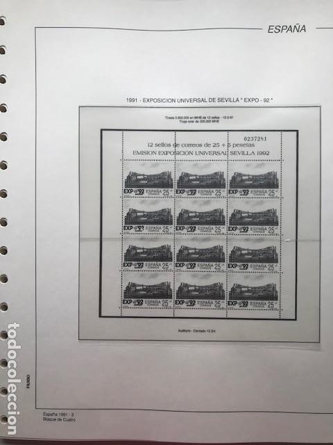 Sellos: Hojas Filabo año 1991 en bloque de 4 Suplemento 16 hojas Filabo España 1991 LEER HFB90 - Foto 3 - 201549982