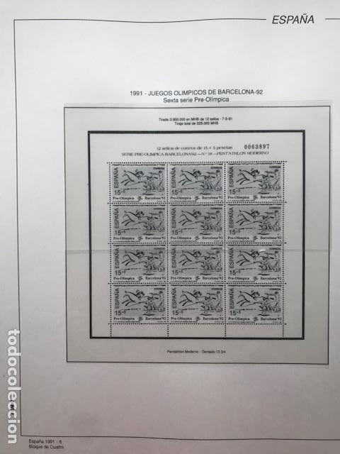 Sellos: Hojas Filabo año 1991 en bloque de 4 Suplemento 16 hojas Filabo España 1991 LEER HFB90 - Foto 6 - 201549982