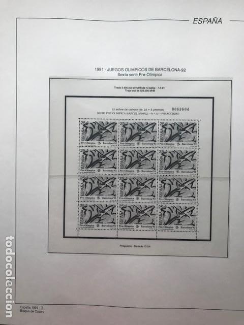 Sellos: Hojas Filabo año 1991 en bloque de 4 Suplemento 16 hojas Filabo España 1991 LEER HFB90 - Foto 7 - 201549982
