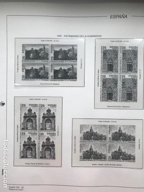 Sellos: Hojas Filabo año 1991 en bloque de 4 Suplemento 16 hojas Filabo España 1991 LEER HFB90 - Foto 11 - 201549982