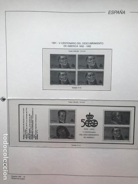 Sellos: Hojas Filabo año 1991 en bloque de 4 Suplemento 16 hojas Filabo España 1991 LEER HFB90 - Foto 13 - 201549982