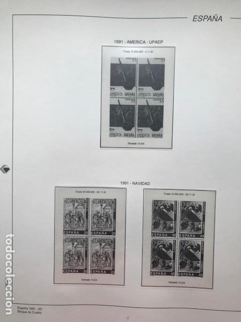 Sellos: Hojas Filabo año 1991 en bloque de 4 Suplemento 16 hojas Filabo España 1991 LEER HFB90 - Foto 14 - 201549982