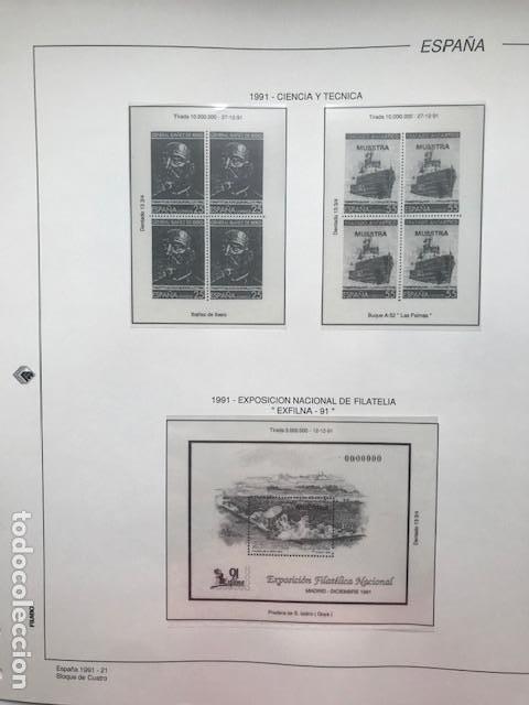 Sellos: Hojas Filabo año 1991 en bloque de 4 Suplemento 16 hojas Filabo España 1991 LEER HFB90 - Foto 15 - 201549982