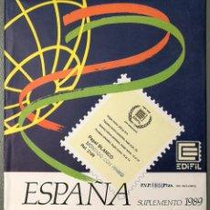Selos: NUMULITE LP013 ESPAÑA SUPLEMENTO 1989 MONTADO CON HAWID REF. 2189 SELLOS FILATELIA. Lote 201928085