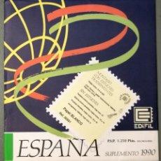 Selos: NUMULITE LP012 ESPAÑA EDIFIL SUPLEMENTO 1990 MONTADO CON HAWID REF. 50901 FILATELIA SELLOS. Lote 201928257