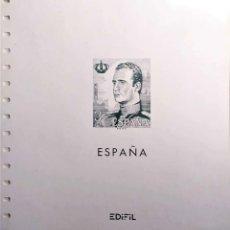 Francobolli: ESPAÑA. HOJAS EDIFIL CREMA, MONTADAS, DESDE MONARQUÍA JUAN CARLOS HASTA 2002. MAGNIFICO ESTADO.. Lote 203506550