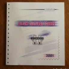 Sellos: HOJAS TORRES PARA SELLOS DE ESPAÑA 2001 COMPLETO (FOTOGRAFÍA REAL). Lote 204968023