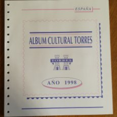 Sellos: HOJAS TORRES PARA SELLOS DE ESPAÑA 1998 COMPLETO (FOTOGRAFÍA REAL). Lote 204969947