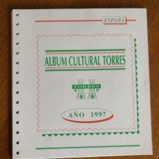 Sellos: HOJAS TORRES PARA SELLOS DE ESPAÑA 1997 COMPLETO (FOTOGRAFÍA REAL). Lote 204970071