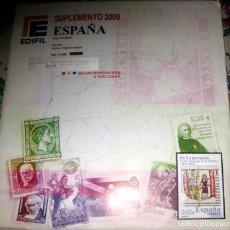 Sellos: !!LIQUIDACIÓN!! SUPLEMENTO EDIFIL DE ESPAÑA 2009 (SELLOS Y HB), MONTADO TRANSPARENTE.. Lote 205031082