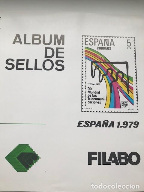 Sellos: Hojas Edifil año 1979 España en crema y filoestuches transparentes Suplemento Edifil 1979 HE70 - Foto 2 - 206246461
