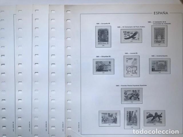 HOJAS EDIFIL AÑO 1986 ESPAÑA EN CREMA Y FILOESTUCHES TRANSPARENTES SUPLEMENTO HOJAS EDIFIL 1986 HE80 (Sellos - Material Filatélico - Hojas)