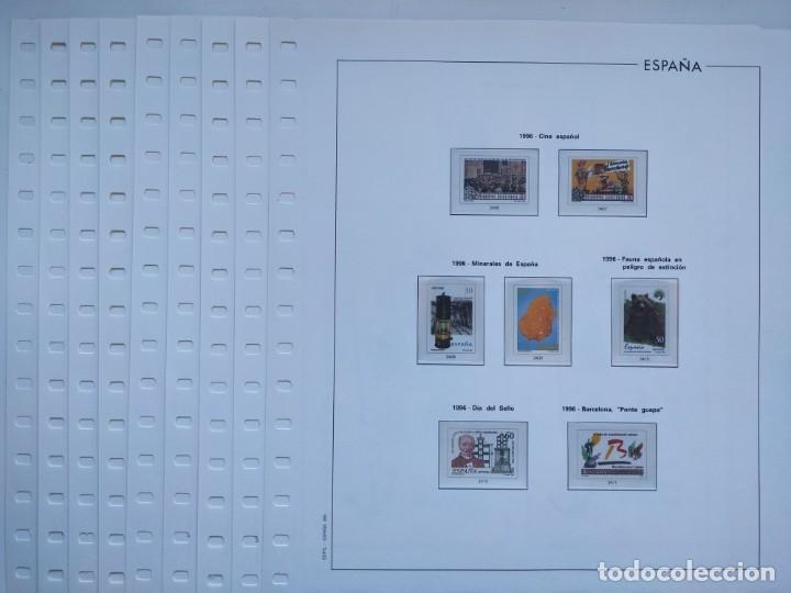 HOJAS EDIFIL AÑO 1996 ESPAÑA EN CREMA Y FILOESTUCHES TRANSPARENTES SUPLEMENTO HOJAS EDIFIL HE90 (Sellos - Material Filatélico - Hojas)