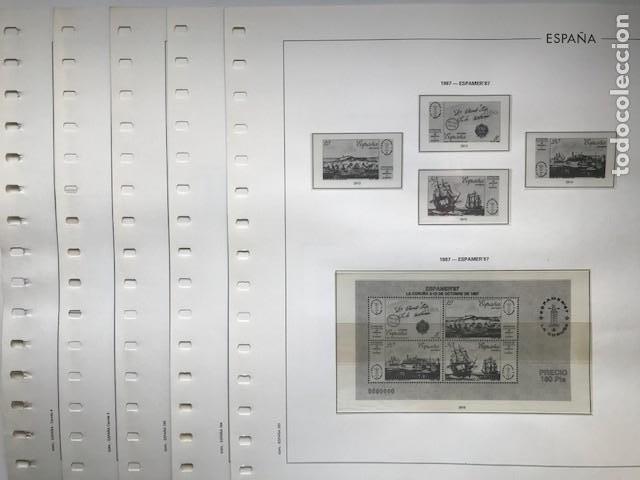 Sellos: Hojas Edifil España año 1987 crema y transparente Suplemento hojas edifil HE80 - Foto 2 - 206262171