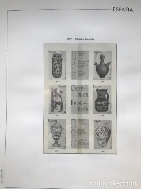 Sellos: Hojas Edifil España año 1987 crema y transparente Suplemento hojas edifil HE80 - Foto 3 - 206262171