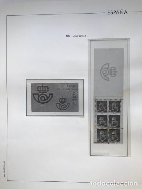 Sellos: Hojas Edifil España año 1987 crema y transparente Suplemento hojas edifil HE80 - Foto 4 - 206262171