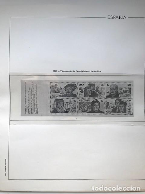 Sellos: Hojas Edifil España año 1987 crema y transparente Suplemento hojas edifil HE80 - Foto 5 - 206262171