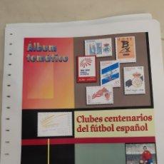 Sellos: FUTBOL ESPAÑOL CLUBES CENTENARIO HOJAS EDIFIL PARA SELLOS MONTADAS ESTUCHEBLANCO TEMÁTICA DEPORTES. Lote 206435715