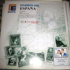 Sellos: !!LIQUIDACIÓN!! SUPLEMENTO EDIFIL DE ESPAÑA 2004 (SELLOS + HB)../ MONTADO TRANSPARENTE.. Lote 206532882