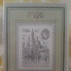 Sellos: HOJA SELLOS 1980 DE MINIATURA LONDON. Lote 206937520