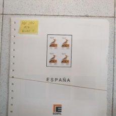 Sellos: ESPAÑA HOJAS DE ÁLBUM EDIFIL 2007 BLOQUE DE CUATRO MONTADAS EN NEGRO (COMO NUEVAS). Lote 210645050