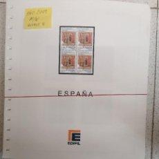 Sellos: ESPAÑA HOJAS DE ÁLBUM EDIFIL 2009 BLOQUE DE CUATRO MONTADAS EN NEGRO (COMO NUEVAS). Lote 210645805