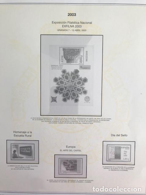 HOJAS SELLOS ESPAÑA AÑOS 2002 Y 2003 13 HOJAS EFILCAR CON FILOESTUCHES VER IMAGENES HE00 (Sellos - Material Filatélico - Hojas)