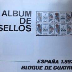 Sellos: HOJAS FILABO BLOQUE DE 4 ESPAÑA 1992 MONTADAS EN NEGRO HFB90 24 HOJAS. Lote 211505377