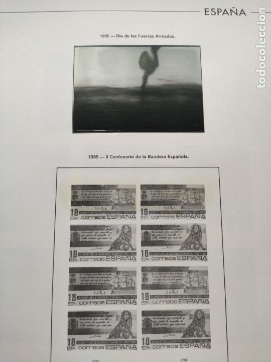 Sellos: Hojas Edifil España bloque de 4 año 1985 completo montado en negro HEB80 85 - Foto 14 - 211795496