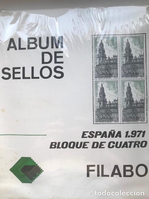 HOJAS FILABO ESPAÑA AÑO 1971 BLOQUE DE 4 MONTADAS EN TRANSPARENTE NUEVAS A ESTRENAR HFB70 71 (Sellos - Material Filatélico - Hojas)