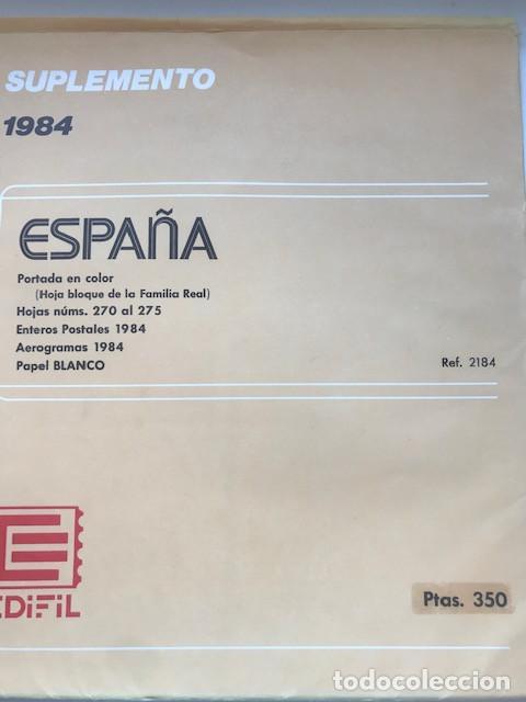 Sellos: Hojas Edifil España año 1984 completo con tarjetas postales y aerogramas 1984 HE80 84 - Foto 11 - 211826200