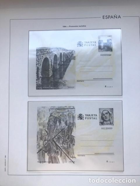 HOJAS EDIFIL ESPAÑA AÑO 1984 COMPLETO CON TARJETAS POSTALES Y AEROGRAMAS 1984 HE80 84 (Sellos - Material Filatélico - Hojas)